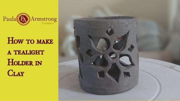 Make a ceramic tealight