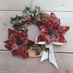 make a ceramic wreath