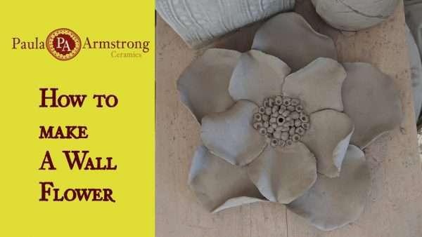 Make a ceramic wall flower